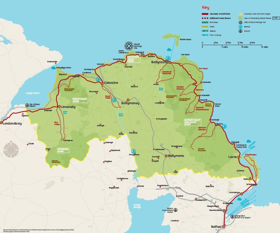 Causeway Coast & Glens Heritage Trust regional map