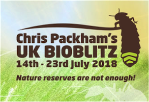 Enter records for Chris Packham's UK Bioblitz 2018!